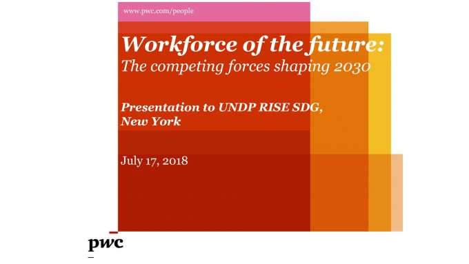 Presentation by Bhushan Sethi: Workforce of the future