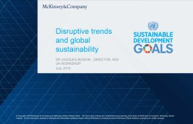Presentation by by Jacques Bughin: Disruptive trends and global sustainability
